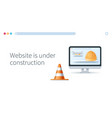website is under construction page concept vector image vector image