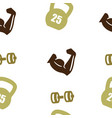 weightlifting pattern seamless isolated vector image