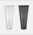 white and black cream tube icon set design vector image