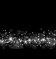 white light bokeh on black background design vector image vector image