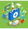 Isometric Medical Health Care Objects vector image