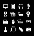 Set icons of PC and electronic devices vector image