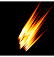 Abstract background-fire shape vector image vector image