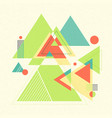 abstract geometric background retro flyer vector image vector image