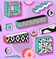 abstract memphis seamless pattern vector image