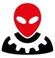 Alien Engineer Flat Icon vector image vector image