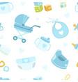 baboy shower seamless pattern newborn baby vector image vector image
