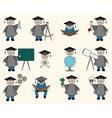 Bachelor or Education Set vector image vector image