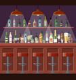 bar pub night club interior vector image