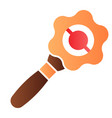 beanbag flat icon baby rattle color icons in vector image vector image
