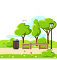 beautiful summer or spring city vector image