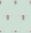 bee honeybee pattern insect hand drawn colorful vector image vector image