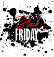 black friday grunge sale background vector image vector image
