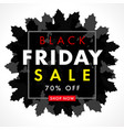 black friday sale special offer autumn vector image
