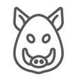 boar line icon animal and zoo pet vector image