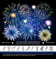 bright festive fireworks template vector image vector image