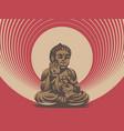 buddha emblem vector image vector image