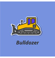 bulldozer color flat icon vector image vector image