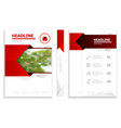 business brochure design template cover book vector image vector image