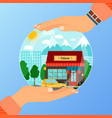 business concept for opening chinese restaurant vector image vector image