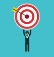 businessman holding a target with arrow vector image vector image