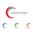c letter wave logo template vector image vector image