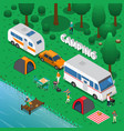 camping concept vector image vector image