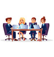 cartoon business meeting conference vector image