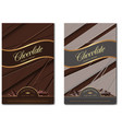 chocolate package design vector image vector image