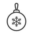 christmas tree ball line icon new year christmas vector image vector image
