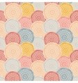 Colorful patterned circles seamless background vector image vector image