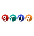 creative capital letters s t u r inscribed vector image