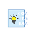 creative idea with lightbulb icon vector image