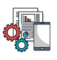 data center flat line icons vector image