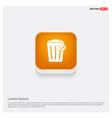 delete icon orange abstract web button vector image