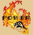 fire hand vector image vector image