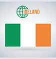 flag of ireland isolated on modern background vector image