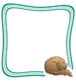 Frame With Brown Fluffy Cat vector image vector image