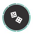 game dice computer symbol vector image