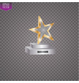 glass trophies plaque engraved crystal award vector image vector image