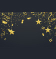 golden confetti isolated festive background vector image vector image