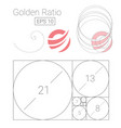 golden ratio template logo fibonacci vector image vector image