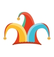 hat fool jester icon vector image vector image