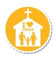 i love jesus design vector image