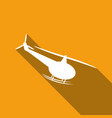 icon airplane a long shadow vector image