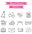 Icon of valentine day hand draw vector image vector image