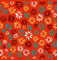 ink seamless pattern with flowers in sketchy vector image vector image