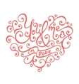 Isolated hand lettering hearts for Valentines day vector image vector image