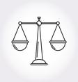 Justice Balance Libra icon symbol logo Modern vector image vector image