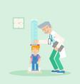 kid in pediatrics clinic flat vector image vector image